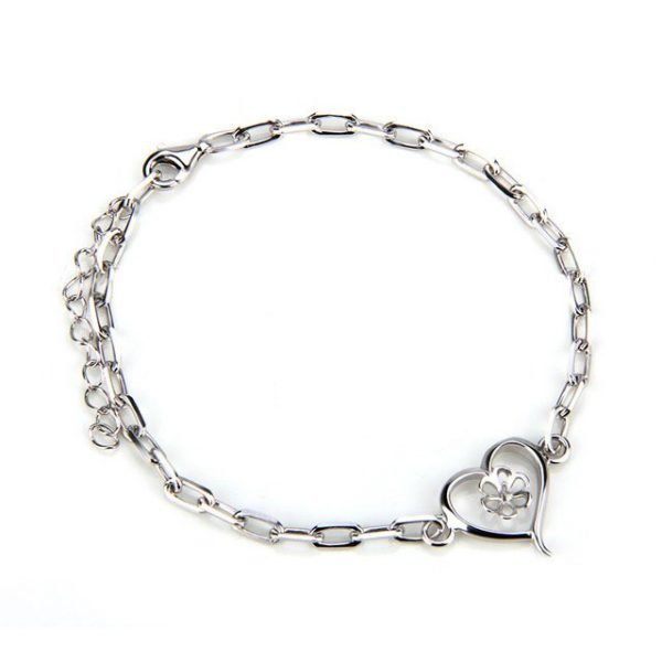 dddfcac08a7 Sterling Silver Heart Bracelet - Pearl Poppin  with Keri
