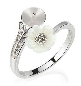 992dbce24e6 Sterling Silver White Flower Ring