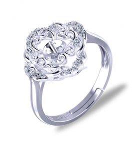 45e99adfa46 Sterling Silver Quatrefoil Ring